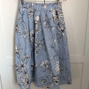 Blue & White striped skirt